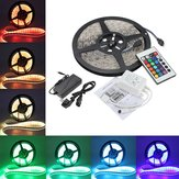 5M 5050 RGB Waterproof 300 LED Strip Light DC12V + 24 Key IR Controller + 5A EU Power Supply