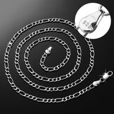 925 Sterling Silver Znaczek Figaro Chain Necklace 16 18 20 22