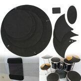 10pcs bass snare drum sound off silencieux mute caoutchouc tambourinage pad pratique ensemble