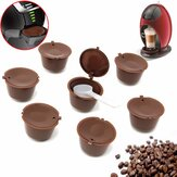 8Pcs Set Refillable Coffee Capsules for Dolce Gusto Reusable Brewers Refill Coffee Cup Filter