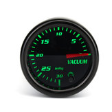 Universal 2 Inch 52mm Mechanical Vacuum Intake Gauge Digital 7 Color LED Display Car Odometer