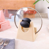 Practical Pot Lid Shelf Holder Plastic Pan Cover Rack Stand Kitchen Accessories Cooking Storage Tool