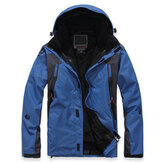 Mens Two-piece Waterproof Windbreaker Outdoor Ski Jacket