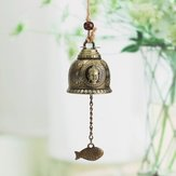 Vintage lichtmetalen Boeddhabeeld Bell Blessing Feng Shui Wind Chime voor Geluk Fortuin Ambachten Thuis Auto Opknoping Decor Thuis Auto Opknoping Decor Gift Amb ...
