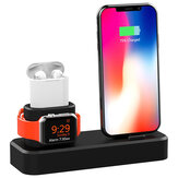 3 in1 estação de carregamento dock station phone holder para iphone XS max XS xr airpods apple Apple Watch series 1 2 3 4
