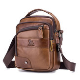 Heren echt lederen tas Multi-layer koeienhuid Crossbody tas