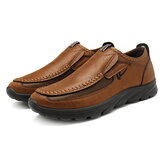Мужчины вскользь Comfy Soft Moc Toe Slip On Leather Oxfords