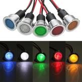 19mm 12V LED Painel Piloto Dash Luz Indicador Luz de advertência Carro Lâmpada de Sinal de Barco