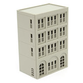 Models Railway Modern 4-Story Office Building Unpainted Scale 1:160 N FOR GUNDAM