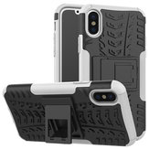 Bakeey ™ 2 in 1 Armor Kickstand TPU + PC Hybrid Case Caver per iPhone X