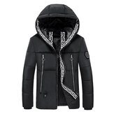 Electric Heating USB Back Intelligent Winter Hooded Heated Coats Jacket Temperature Control