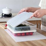 ロック付き蓋付きプラスチック透明単層密閉ボックス食品冷蔵庫収納ラック