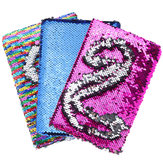 A5 Notebook For School Office Various Color Magic Reversible Sequin Notebook Diary with Lock