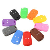 Multicolor 2 Botton Silicone Car Remote Key Shell Cover Case For Vauxhall Opel Corsa Insignia