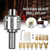 Drillpro Wooden Bead Maker Beads Drill Bit Milling Cutter Set Molding Tool Beads Router Bit Woodworking Tool Kit