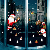 Miico SK9241 Christmas Sticker Cartoon Santa Claus Pattern Wall Stickers Removable For Room Decoration