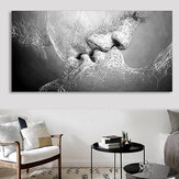 Black & White Love Kiss Wall Art Picture Print Abstract Arts on Paintings For Room Decorations