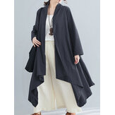 Women Long Sleeve Solid Casual Cardigans Coats
