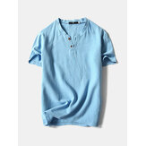 Mens Moda V-neck Mangas curtas T-shirts