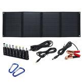 60W 5V / 12V Carregador de painel solar dobrável Portas USB duplas Bateria Carregamento de acampamento ao ar livre