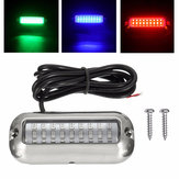 27LED/42LED Underwater Pontoon Marine Boat Transom Lights Waterproof 316 Stainless Steel