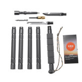 47.1 Inch Walking Trekking Stick Pole Outdoor Camping Hiking Survival Tools Kit