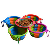 Camouflage Silicone Bowl Collapsible Tragbare Out Pet Bowl Katze und Hund Universal