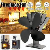 IPRee® Up Grade 4 Blades Fireplace Fan Thermal Heat Power Stove Fan Wood Burner Fan