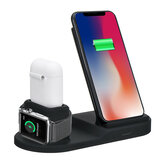 3 In 1 10W Qi Wireless Charger Watch Charger Earbuds Charger Phone Holder for Qi-enabled Smart Phone for iPhone 11 Pro Max Apple Watch Apple AirPods