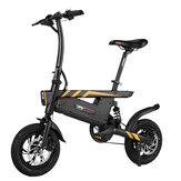 [Direto da UE] Ziyoujiguang Bicicleta elétrica dobrável T18S 7.8AH 36V 250W 12 polegadas 25 km / h Velocidade máxima 30-35 km Sistema inteligente de velocidade variável de quilometragem Bearing 120kg