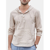 Men's Soft Breathable Linen Hooded T-Shirts