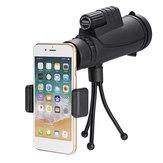 IPRee® 40x60 10 keer FMC-coating BAK4 Monoculair Ultra HD Waterdicht bij weinig licht Nachtzicht Telefoon Telescoop + Telefoonclip + Statief