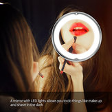 Portable 10x Magnifying Makeup Vanity Mirror Cosmetic Beauty