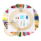 Handcraft Cross Stitch Kit Embroidery Starter Sew Needle Round Hoop Frame Sewing Tools