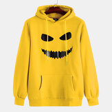 Halloween Mens Smile Printing Hooded Overheand Sweats