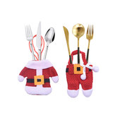 Loskii 1set Creative Christmas Small Clothes Pants Tableware Sets Kitchen Restaurant Hotel Layout Knife Fork Spoon Set Xmas Decorations