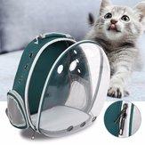 5色通気性透明ペット旅行バックパック犬猫キャリアショルダーバッグ
