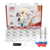 32pcs Chinese Cupping Vacuum Cup Massage Set Medical Therapy Health Acupuncture Kit