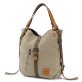 Multifunctional Canvas Bag Women Convertible Backpack Purse Ladies Shoulder Bag Casual Handbag