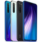 Xiaomi Redmi Note 8 Global Version Appareil photo arrière 4 pouces 48MP Quad 4GB 64GB 4000mAh Snapdragon 665 Octa core 4G Smartphone