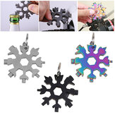18 in 1 Snowflake Shape Multi Tool KeyChain schroevendraaier EDC Tool