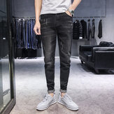 Season New Elastic Men's Jeans Casual Delgado Pies Pantalones Trend Men's Long Pantalones