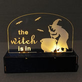 Loskii JM01507 1 pcs Halloween Decoration LED Lamp Candle with LED Tea Light Candles for Halloween Decorations