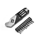 HUOHOU Stainless Steel Adjustable Wrench Folding Allen Wrench Multi-Function Wrench With Screwdriver
