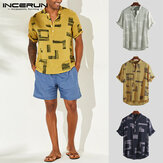 Mens Casual Floral Button T Shirt V Neck Breathable Beach Holiday Shirt Tops Tee