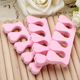 20pcs Nail Art Soft Finger Toe Separator Pedicure Tool