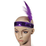 Veer Headbrand Flapper Sequin kostuum Fancy Dress haarband