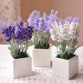 10 Kafa Buket Güzel Yapay Lavanta İpek Çiçekler