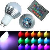Gu10 16 colori rgb 3W di controllo LED lampadine a distanza 85-265v