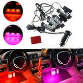 3LED 12V Car Charger 4 in 1 Decoration Light Interior Lights Purple Orange